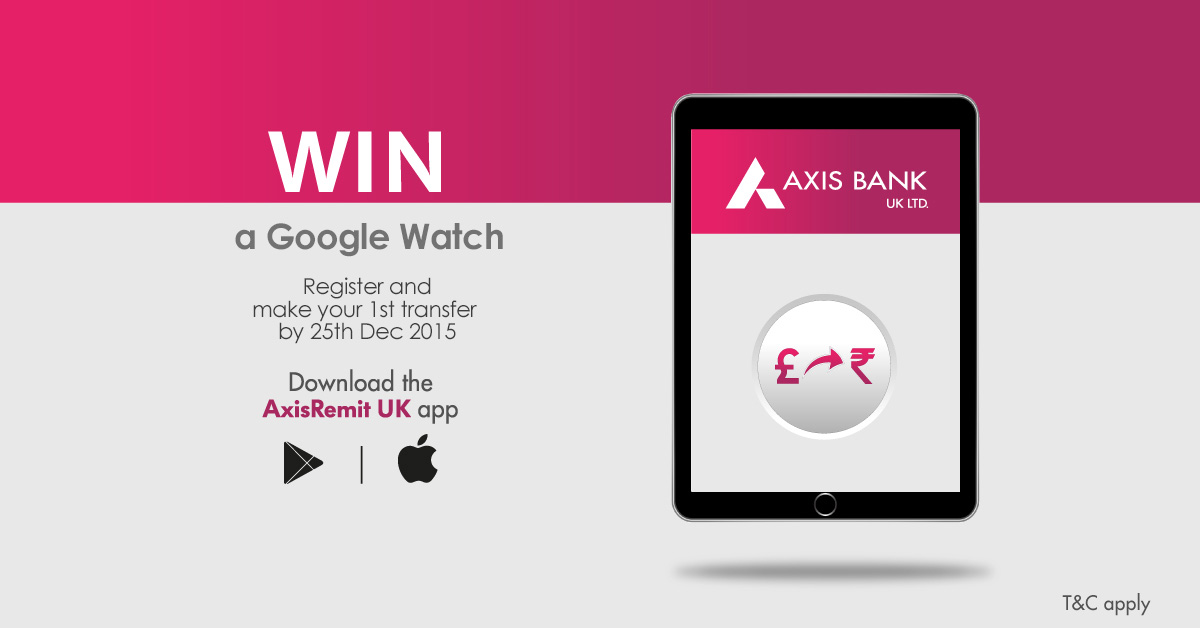 Win a Google Watch with AxisRemit UK
