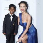 Amy Jackson with the Rising Star Sunny Pawar