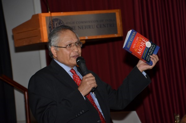 International best selling author Shiv Khera enthralls a packed Nehru Centre