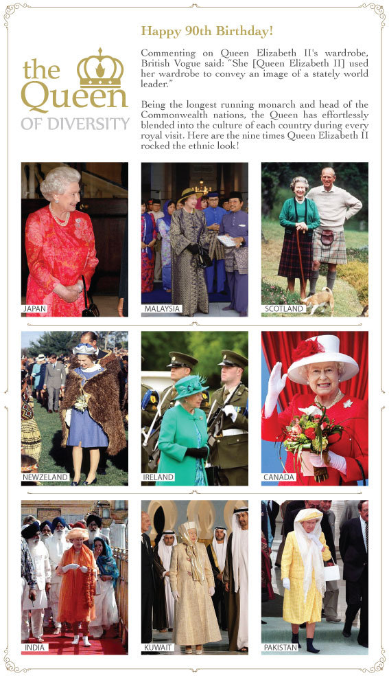 Happy Birthday to the Queen of Multicultural Britain!