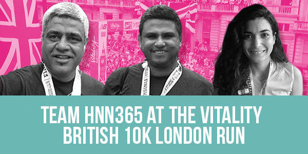 Team HNN365 at the Vitality British 10K London Run