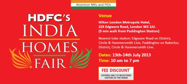 HDFC India Homes Fair London 2013