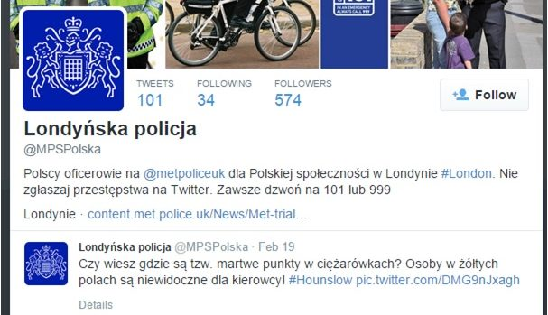 Met launches Polish Twitter feed to overcome language barriers