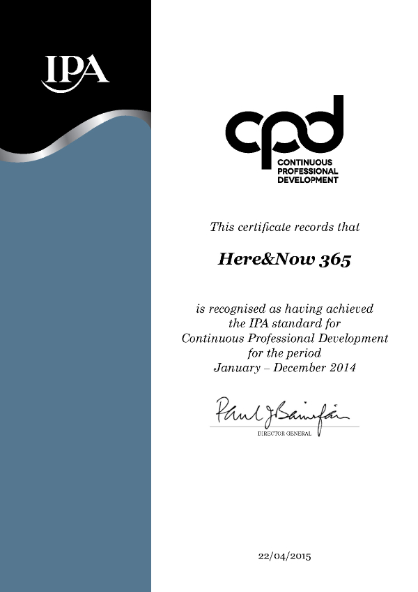 We are CPD certified!
