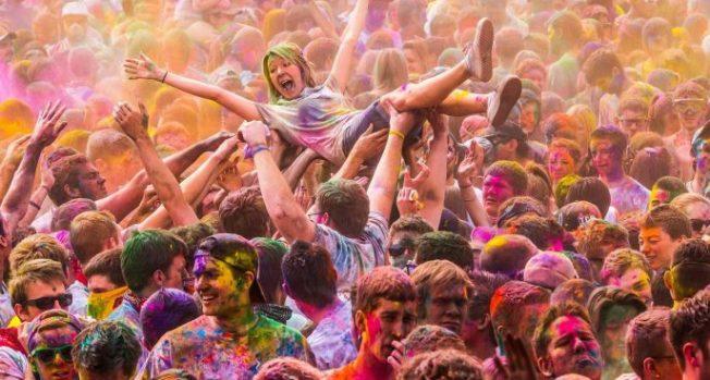 South Asian Splash of Lively Colours - Holi