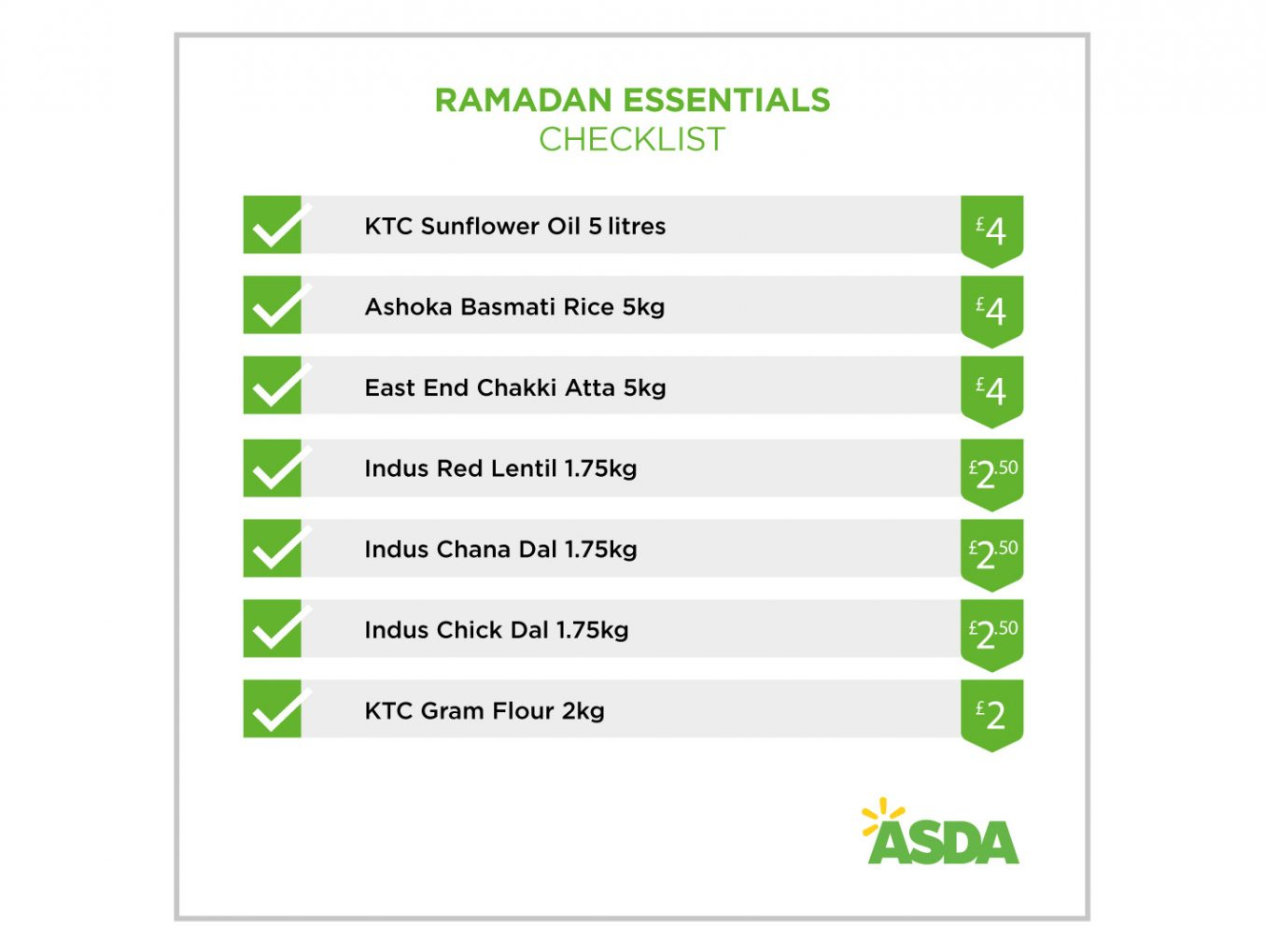 Asda partners Mums this Ramadan in stocking up the essentials in advance!
