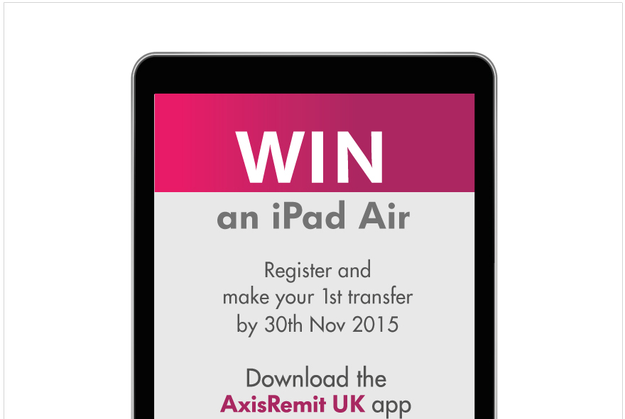 Black Friday Sale: Transfer Money through Axis Remit UK App and Win an iPad Air