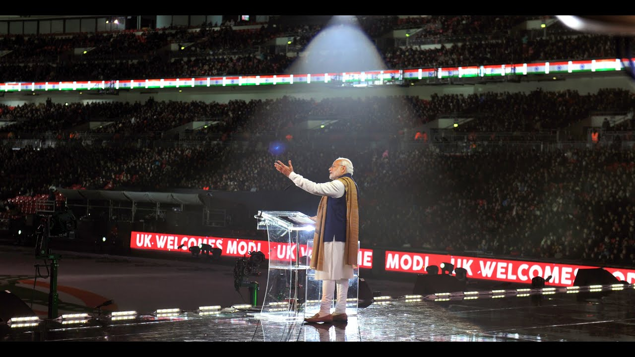 Indian brands takeover Wembley Stadium as thousands welcome  Indian Prime Minister Narendra Modi