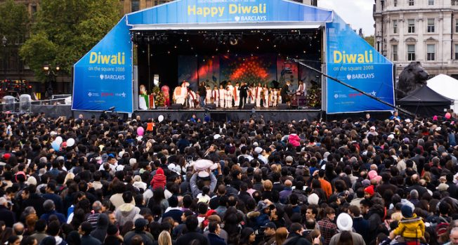 London celebrates Diwali at Trafalgar Square