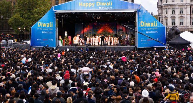 London celebrates Diwali at Trafalgar Square