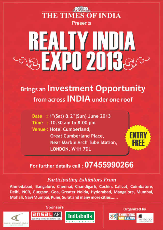 Realty India Expo 2013: A Must-Attend Investment Fair