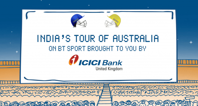 ICICI Bank UK Was the Exclusive Title Sponsor for the India - Australia Cricket Tour
